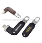 USB Promosi Leather Swivel